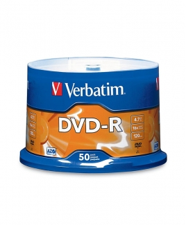 Verbatim DVD-R (4.7GB) 16x (50pcs in Spindle) [Cake Box]